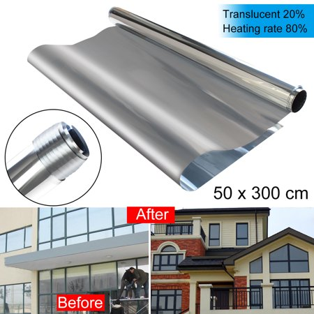 Window Films Privacy Film Decorative 20% Solar Reflective Mirror Silver Sticker One Way Window Covering Film Tint Tinting 20