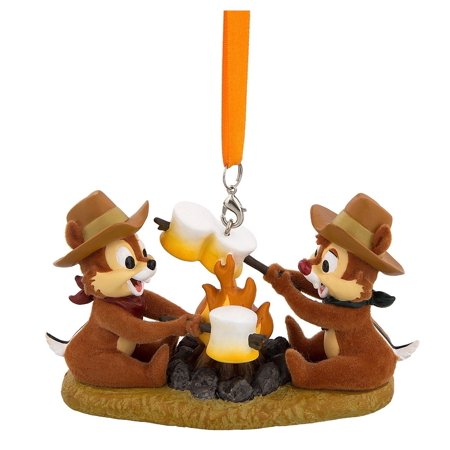 Disney Parks Chip 'n Dale Roasting Marshmallows Christmas Ornament New with Tags