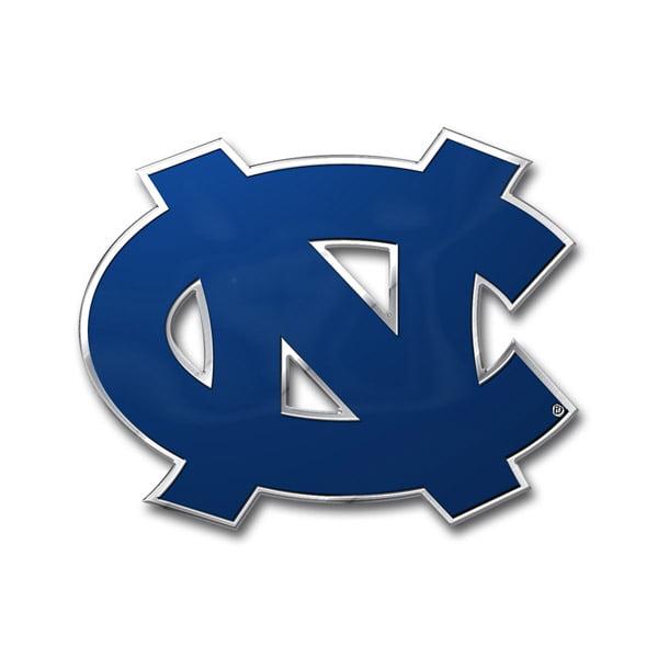 North Carolina Tar Heels Color Auto Emblem - Die Cut