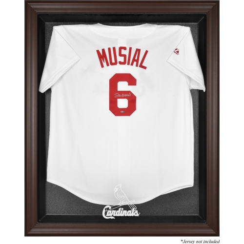 St. Louis Cardinals Fanatics Authentic Brown Framed Logo Jersey Display Case - No Size