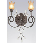 Mandarin Wall Sconce in Bronze Patina Finish (Crystalique)