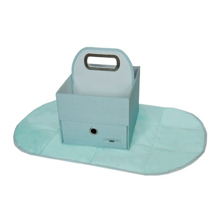 JJ COLE Diapers & Wipes Caddy - Blue Heather