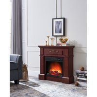 """Prokonian Electric Fireplace with 32"""" Mantle, Royal Cherry"""