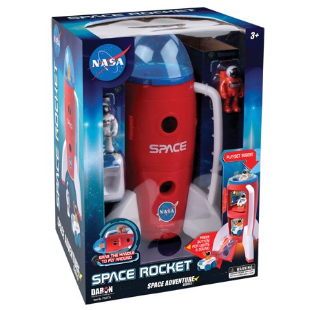 - Daron Space Space Adventure NASA Space Rocket with Lights, Sound, 2 Astronauts, and Rover car