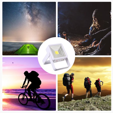 Solar Powered Energy LED Outdoor Light with USB Charging Port Portable Rechargeable Square Design for Camping Fishing Hiking Emergency - image 3 de 7