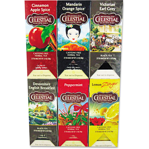 Celestial Seasonings Assorted Flavored Tea, 150ct