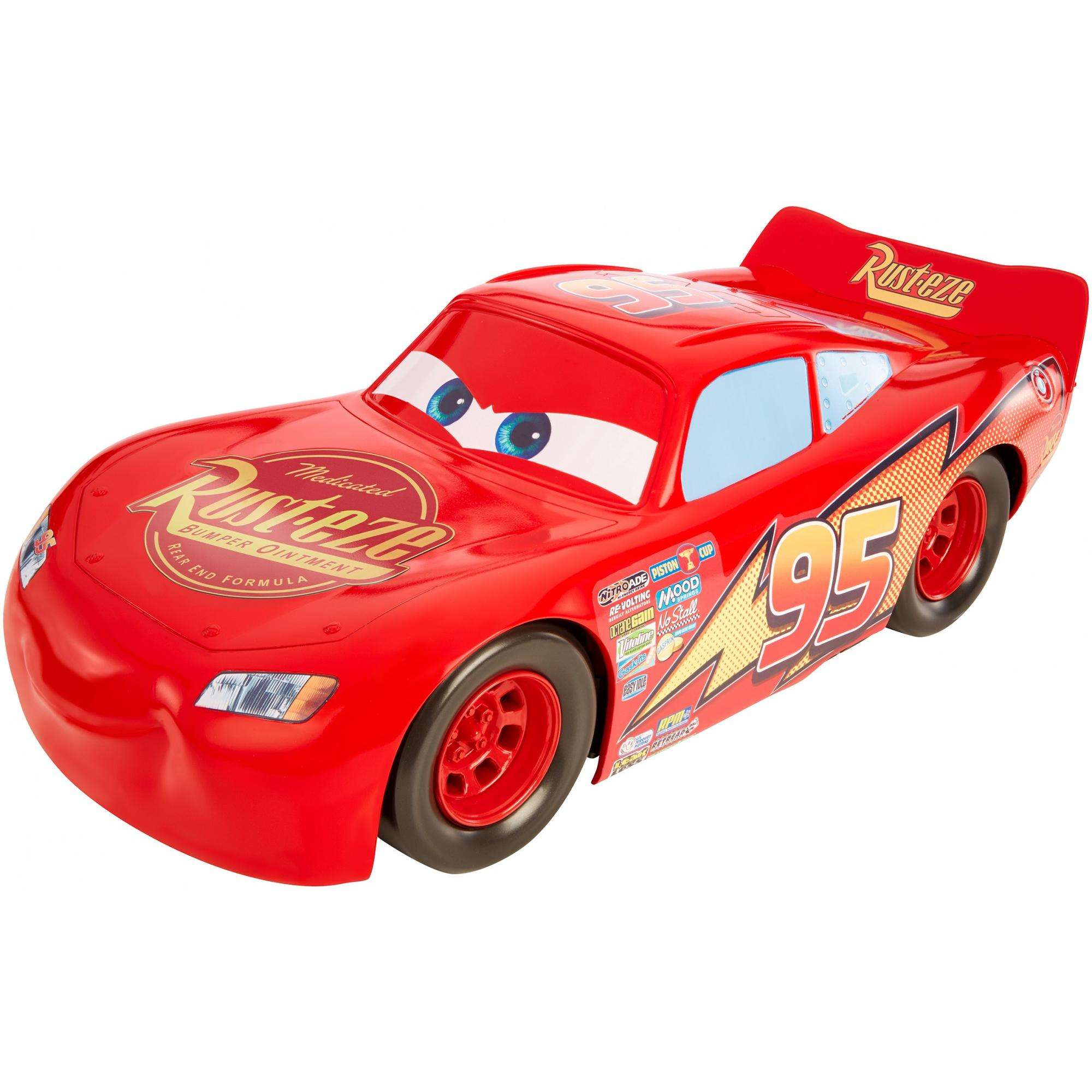 Disney Pixar Cars 3 Lightning Mcqueen 20 Inch Vehicle Walmart Com