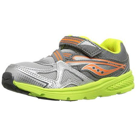 4221f95a Saucony Boys' Baby Ride Sneaker (Toddler/Little Kid), Grey/Orange/Citron,  4.5 W US Toddler