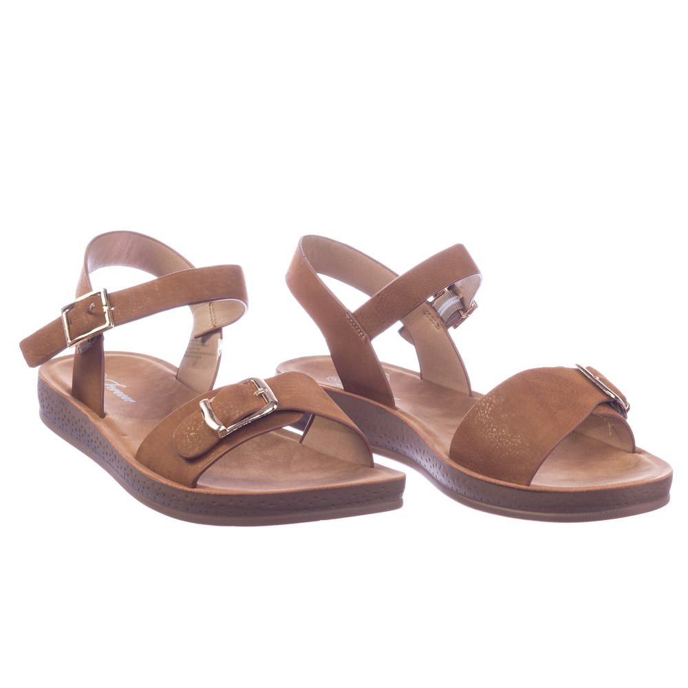 Reform9 by Open Forever Link, Comfortable Flatform Open by Toe Sandal w Rubber Outsole & Ankle Strap 19bb84