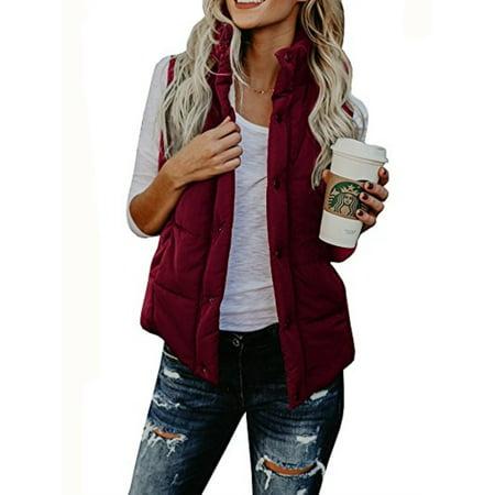 Cotton Sleeveless Vest - Women Fashion Autumn Winter Cotton Vest Sleeveless Coat