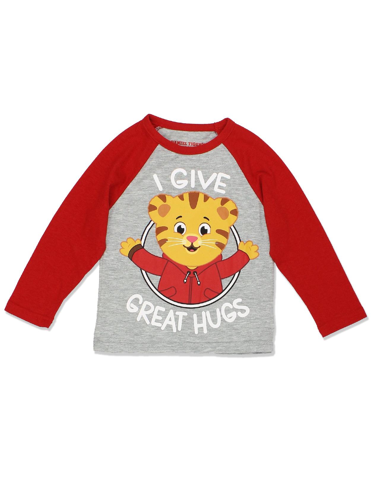 Daniel Tiger Toddler Boys Girls Long Sleeve Tee DTST015LS
