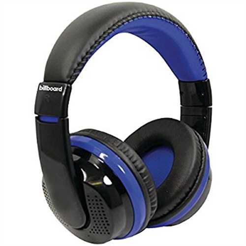 Refurbished Billboard BB490 Bluetooth Over-Ear Foldable Headphones with Microphone Blue