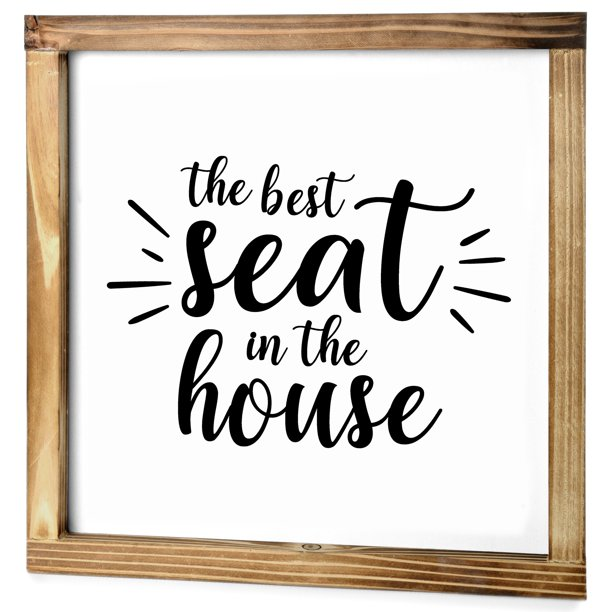 Best Seat In The House Bathroom Sign Modern Farmhouse Bathroom Decor Cute Guest Bathroom Decor Funny