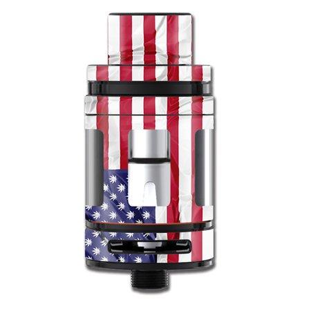 Skin Decal For Smok Tfv8 Big Baby Beast Tank Vape / American Flag Pot Leaf Stars Marijuana for $<!---->