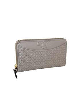 6066ad14f8e Product Image Tory Burch Bryant Zip Continental Leather Wallet French grey