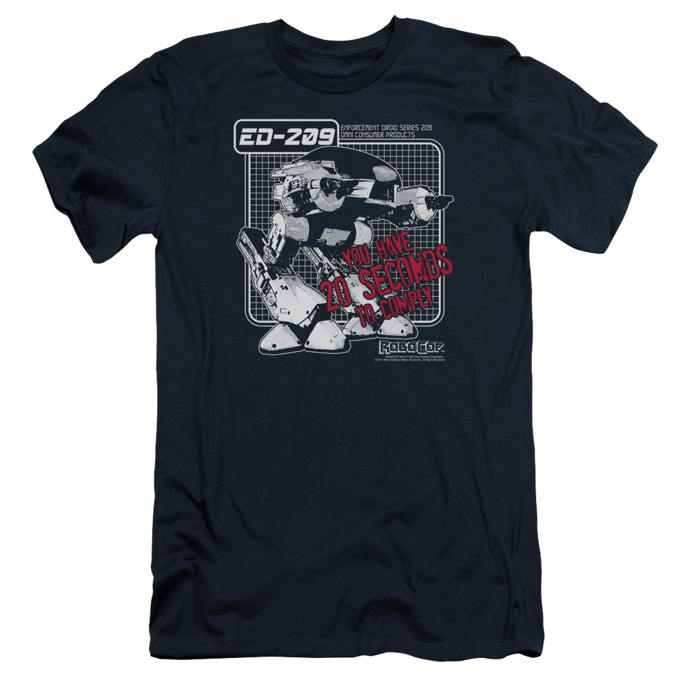 Mgm Robocop Ed 209 Mens Slim Fit Shirt