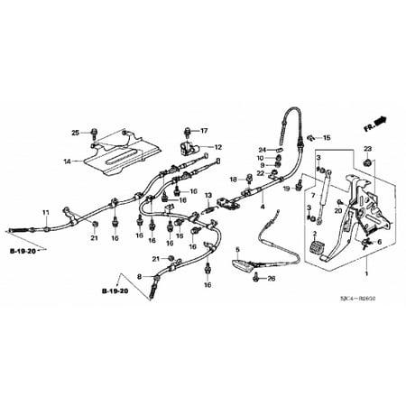 Honda 47520-SJC-A04 Right Rear Parking Brake Cable Honda