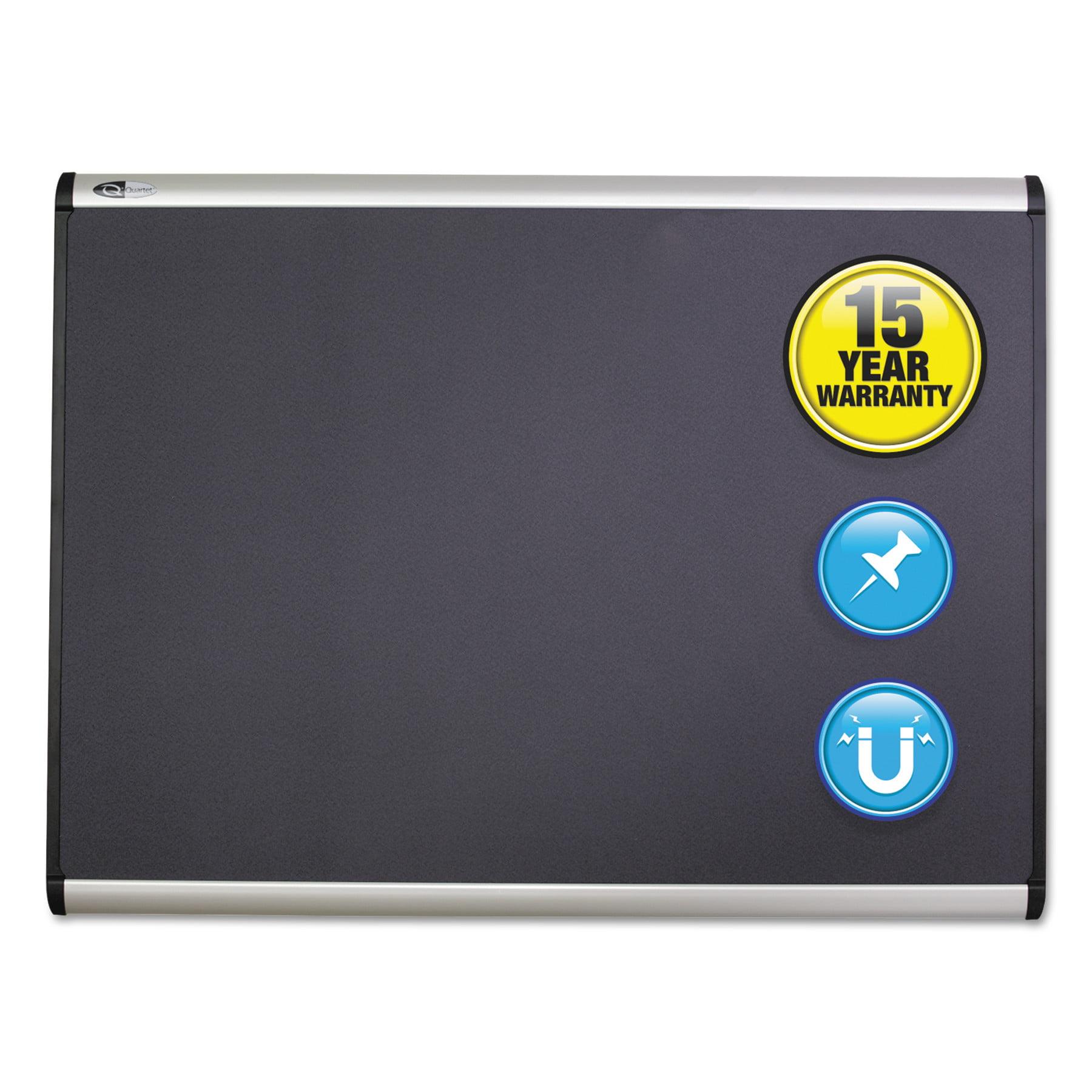 Quartet Prestige Plus Magnetic Fabric Bulletin Board, 72 x 48, Fiberboard/Plastic Frame -QRTMB547A