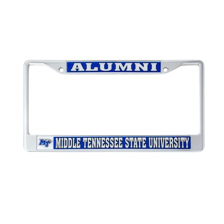 Middle Tennessee State University Framed - Desert Cactus Middle Tennessee State University Alumni Metal License Plate Frame for Front Back of Car Officially Licensed Blue Raiders