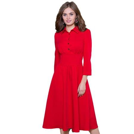 Vintage Style A-line Dress - image 1 de 5