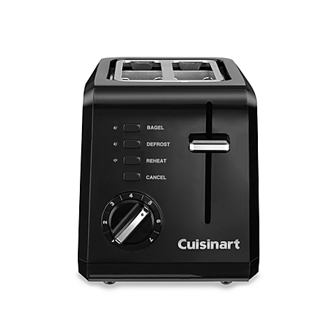 Cuisinart Compact 2-Slice Toaster - CPT-122 - Black (Certified Refurbished)
