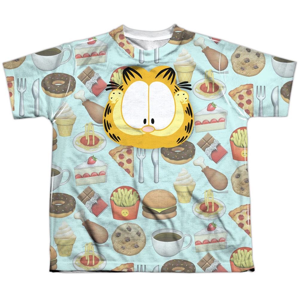 Garfield Men's  Cat Food Sublimation T-shirt White