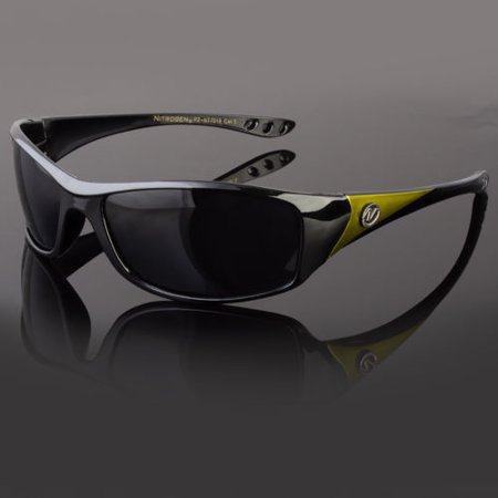 Black Polarized Wrap Around Men Glasses Outdoor Sports Eyewear Driving UV