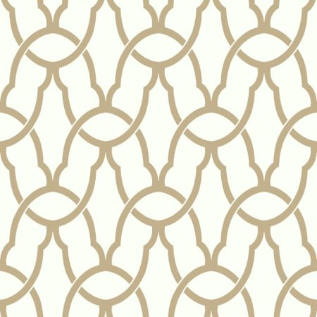 RoomMates Gold Trellis Peel & Stick Wallpaper