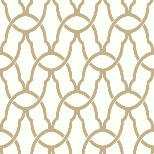 RoomMates Gold Trellis Peel & Stick Wallpaper