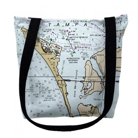 Betsy Drake TY11424RM 16 x 16 in. Anna Maria Island Florida Nautical Map Tote Bag - Medium - image 1 of 1