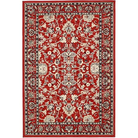 Unique Loom Traditional Kashan Red 4' x 6' Area Rug