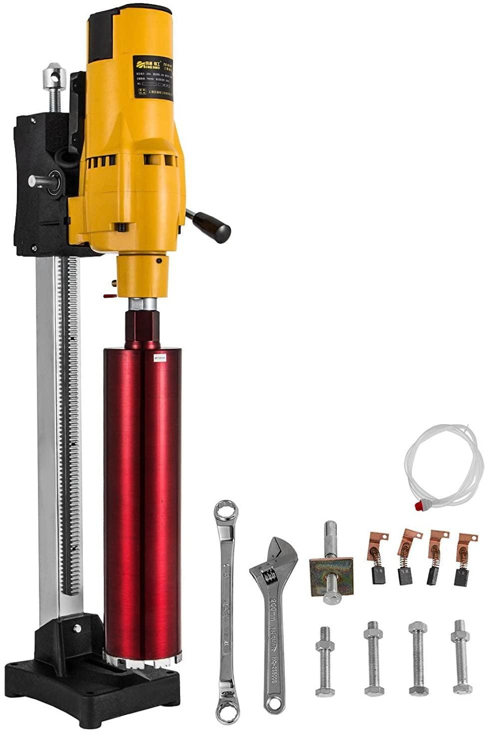 Vevor 3980w Diamond Core Drill Concrete Drill Machine Max 205mm W Stand Drill Bits Walmart Canada