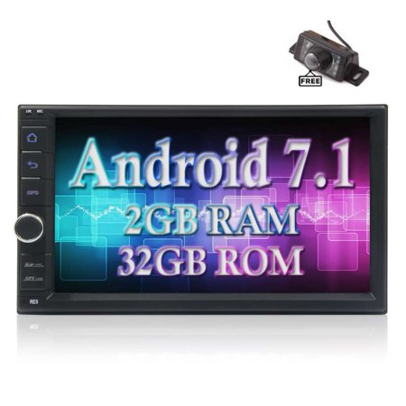 Best Car Radio - Android 7.1 Octa Core 2GB 32GB Double Din GPS Car Audio with Radio Receiver Bluetooth 7 Inch Touch Screen Support Wifi AM/FM DVR OBD2 with Backup