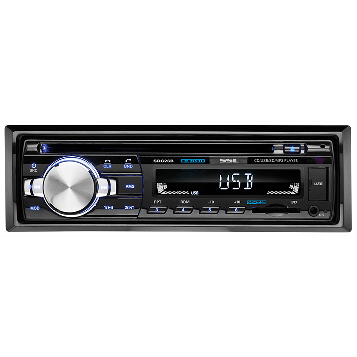 SSL SDC26D Single-DIN In-Dash CD Receiver with Bluetooth
