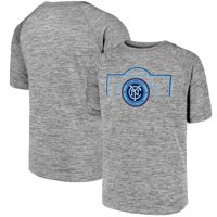 New York City FC Fanatics Branded Youth Just Getting Started Raglan T-Shirt - Heathered Gray