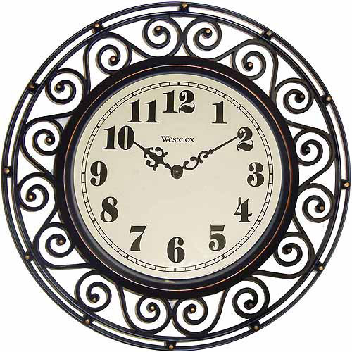 Westclox Wrought Iron Look Decor Wall Clock