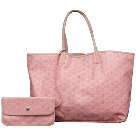 (Ultra Rare) Chevron St Louis with Pouch 231322 Pink Coated Canvas - Pink Tote