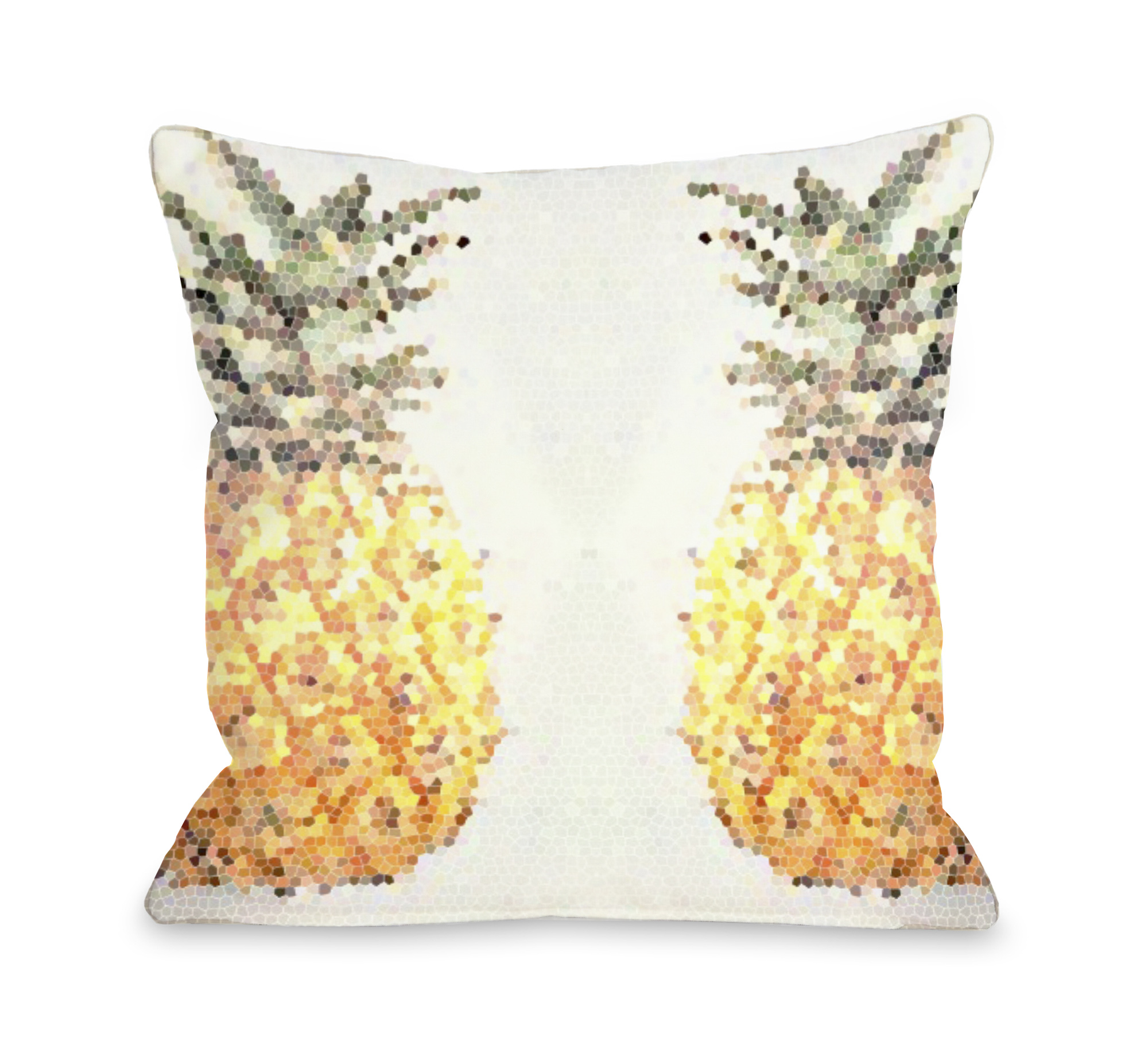 Pineapple Half 18x18 Pillow by OBC