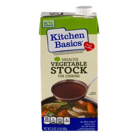 Kitchen Basics Vegetable Stock Unsalted, 32.0 OZ - Walmart.com