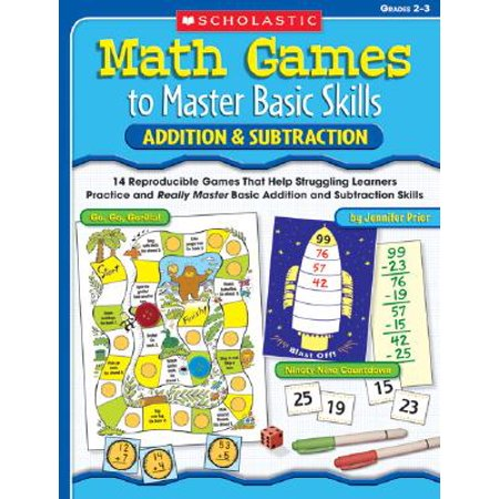 Addition & Subtraction, Grades 2-3 : 14 Reproducible Games That Help Struggling Learners Practice and Really Master Basic Addition and Subtraction - Halloween Subtraction Games