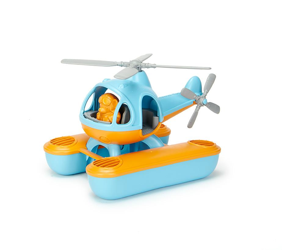 Green Toys Seacopter Bath Toy, Orange Top by Green Toys Inc