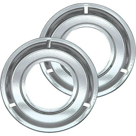 Range Kleen Drip Pans, Style G, Chrome, Set of 2