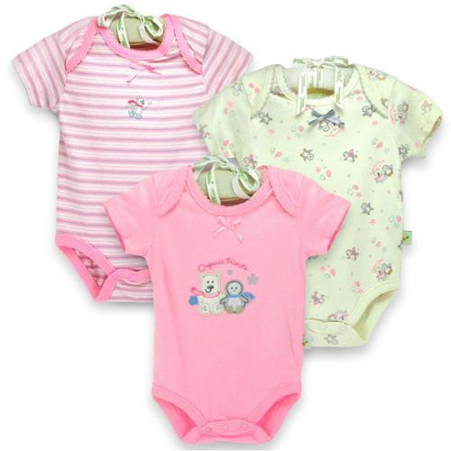 Organically Grown Infant 'Winter Friends' Organic Cotton Bodysuits (Set of 3) 3-6 Months