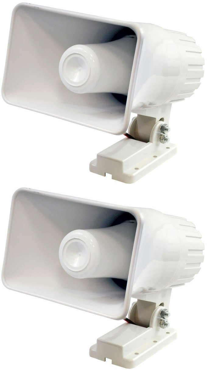 "2) PHSP4 6"" 50 Watt Indoor Outdoor Waterproof Home PA Horn Speaker White, Waterproof... by Pyle"