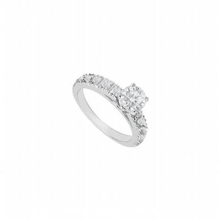 UBTJS656AW14 14K White Gold Semi Mount Engagement Ring - 0.50 CT Diamonds, 12 Stones