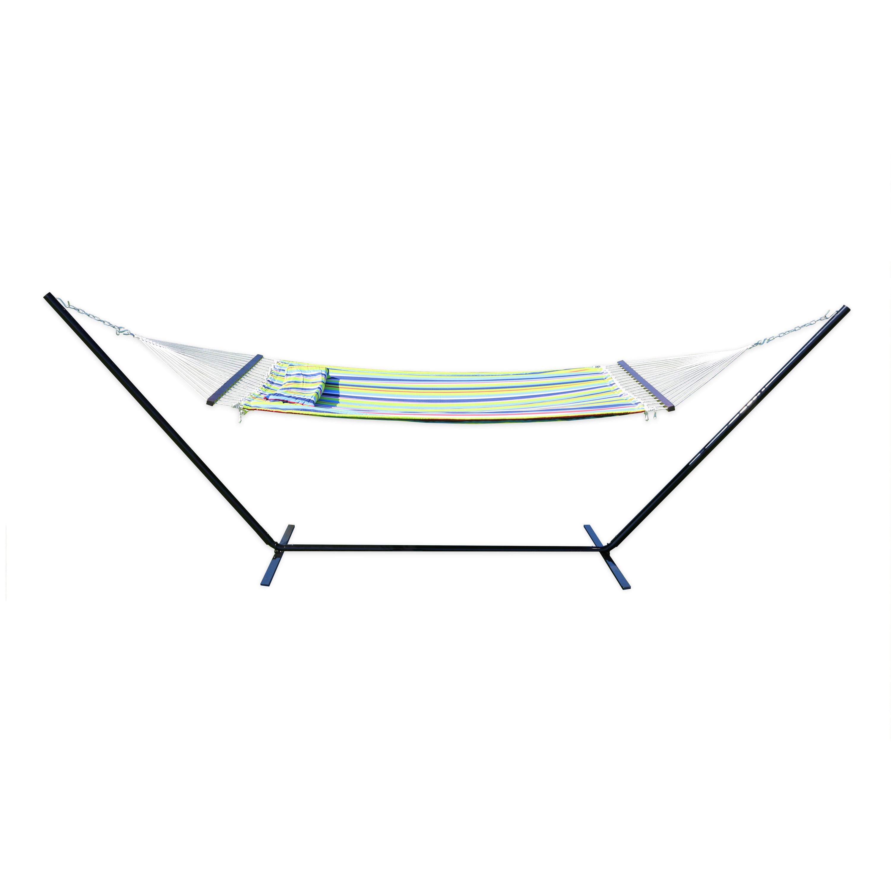 "Stansport Antigua Cotton Hammock w/Stand - Double - 78"" x 57"