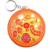 MIARHB Cute Pizza Stress Reliever Keychain Scented Super Slow Rising Squeeze Toy