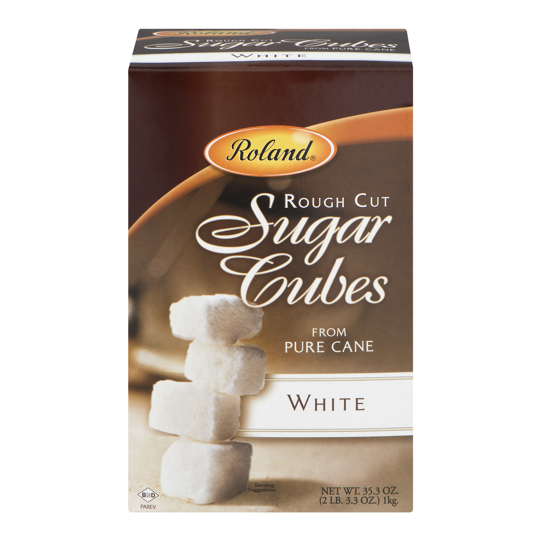 Roland Rough Cut Sugar Cubes From Pure Cane White, 35.3 OZ