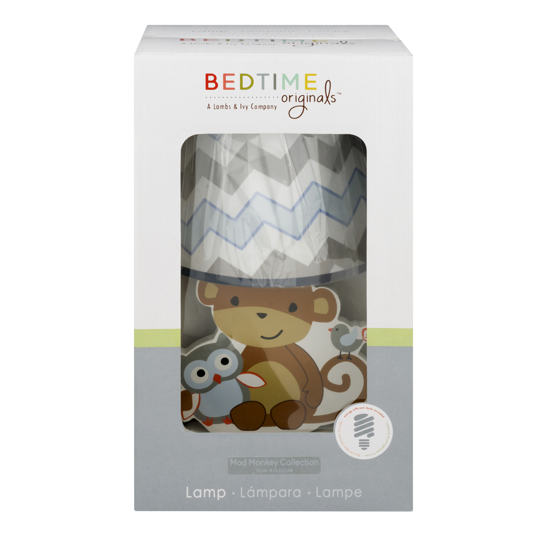 Bedtime Originals Lamp Mod Monkey Collection -1 CT1.0 CT