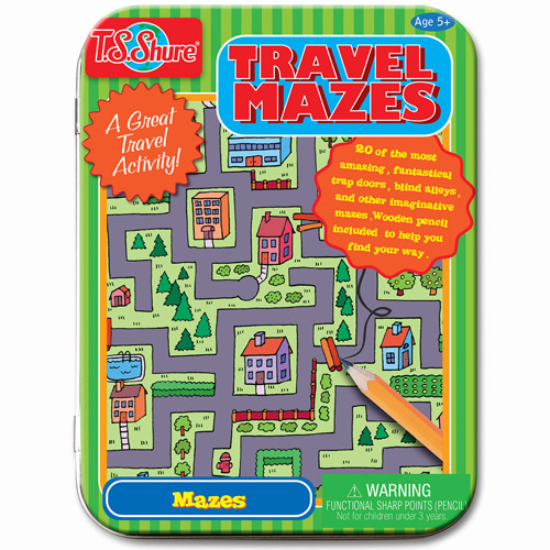 T.S. Shure Travel Mazes Creative Activity Mini Tin